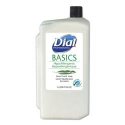 Dial Basics Liquid Hand Soap, Fresh Floral, 1000mL Refill, 8/Carton