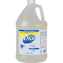 Dial Sensitive Skin Liquid Soap Refill, 1Gal, Clear
