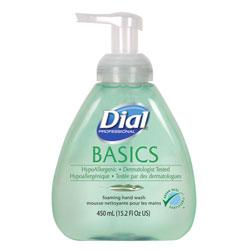 Dial Basics Foaming Hand Soap, Original, Honeysuckle, 15.2 oz Pump Bottle, 4/Carton