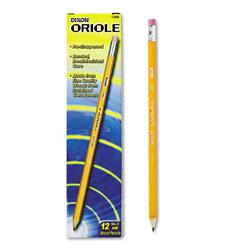 Dixon Oriole Pre-Sharpened Pencil, HB (#2), Black Lead, Yellow Barrel, Dozen