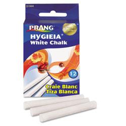 Prang Hygieia Dustless Board Chalk, 3 1/4 x 0.38. White, 12/Box