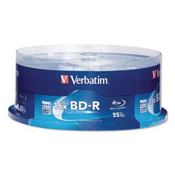 Verbatim BD-R Blu-Ray Disc, 25GB, 16x, 25/Pk