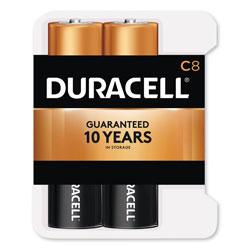 Duracell CopperTop Alkaline Batteries, C, 8/PK