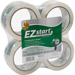 Duck® Packaging Tape, 1-7/8 in x 54.6yds., 4/PK, Clear