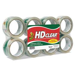 Duck® Heavy-Duty Carton Packaging Tape, 3 in Core, 1.88 in x 55 yds, Clear, 8/Pack