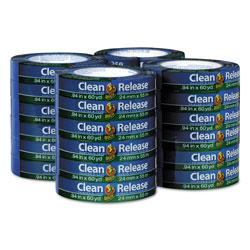 Duck® Clean Release Painter's Tape, 3 in Core, 0.94 in x 60 yds, Blue, 24/Carton