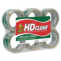 Duck® Heavy-Duty Carton Packaging Tape, 3 in Core, 1.88 in x 55 yds, Clear, 6/Pack