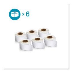 Dymo LW Address Labels, 1.13 in x 3.5 in, White, 130/Roll, 6 Rolls/Pack