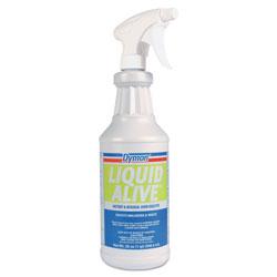 ITW Dymon LIQUID ALIVE Odor Digester, 32 oz Bottle, 12/Carton