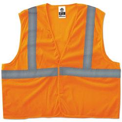 Ergodyne GloWear 8205HL Type R Class 2 Super Econo Mesh Vest, Orange, 4XL/5XL