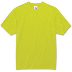Ergodyne Non-Certified T-Shirt, 2XLarge, Lime