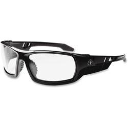 Ergodyne Skullerz Odin Safety Glasses, Black Frame/Clear Lens, Anti-Fog, Nylon/Polycarb