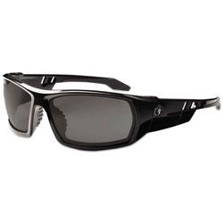 Ergodyne Skullerz Odin Safety Glasses, Black Frame/Smoke Lens, Anti-Fog, Nylon/Polycarb