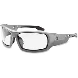 Ergodyne Skullerz Odin Safety Glasses, Gray Frame/Clear Lens, Anti-Fog,Nylon/Polycarb