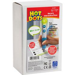 Educational Insights Hot Dots Talking Pens, 6/PK, Silver/Blue