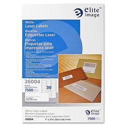 Elite Image Label Laser 1 X 2 5/8 White