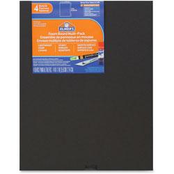 Elmer's Foam Board, 11 in x 14 in, 4/PK, Black