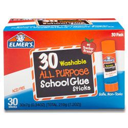 Elmer's Glue Sticks, .24 oz., Clear Application