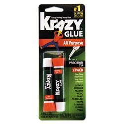 Krazy Glue All Purpose Krazy Glue, 0.07 oz, Dries Clear, 2/Pack