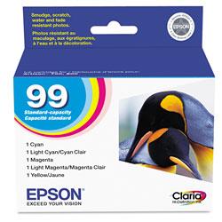 Epson T099920S (99) Claria Ink, Cyan; Light Cyan; Light Magenta; Magenta; Yellow