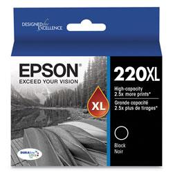 Epson T220XL120S (220XL) DURABrite Ultra High-Yield Ink, 450 Page-Yield, Black