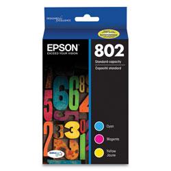 Epson T802520S (802) DURABrite Ultra Ink, 650 Page-Yield, Cyan/Magenta/Yellow