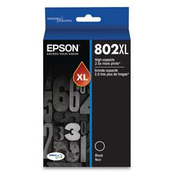 Epson T802XL120S (802XL) DURABrite Ultra High-Yield Ink, 2600 Page-Yield, Black