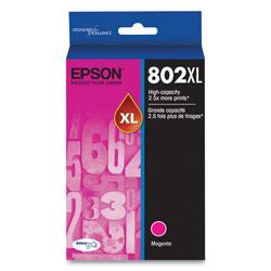 Epson T802XL320S (802XL) DURABrite Ultra High-Yield Ink, 1900 Page-Yield, Magenta