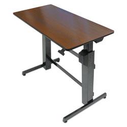Ergotron WorkFit D Sit-Stand Workstation, 47.63w x 23.5d x 50.63h, Walnut/Black