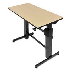 Ergotron WorkFit D Sit-Stand Workstation, 47.63w x 23.5d x 50.63h, Birch/Black