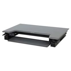 Ergotron WorkFit-T Desktop Sit-Stand Workstation, 35w x 22d x 20h, Black