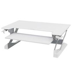 Ergotron WorkFit-TL Desktop Sit-Stand Workstation, 37.5w x 25d x 20h, White