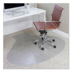 E.S. Robbins EverLife Chair Mats for Medium Pile Carpet, Contour, 66 x 60, Clear