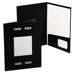 Oxford Imperial Series Laserview Business Portfolio, Premium Paper, Black, 10/Pack
