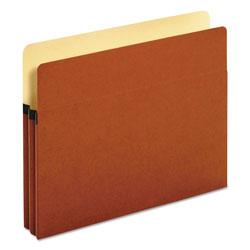 Pendaflex Standard Expanding File Pockets, 1.75 in Expansion, Letter Size, Red Fiber, 25/Box