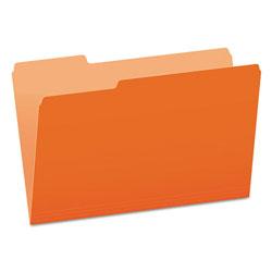Pendaflex Colored File Folders, 1/3-Cut Tabs, Legal Size, Orange/Light Orange, 100/Box