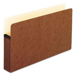 Pendaflex Standard Expanding File Pockets, 5.25 in Expansion, Legal Size, Red Fiber, 10/Box