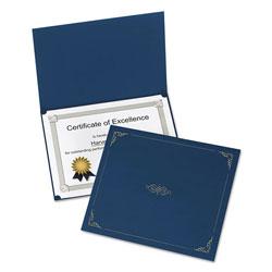 Oxford Certificate Holder, 11 1/4 x 8 3/4, Dark Blue, 5/Pack