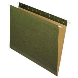 Pendaflex Reinforced Hanging File Folders, Letter Size, Straight Tab, Standard Green, 25/Box