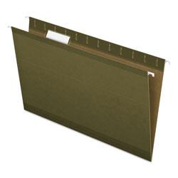 Pendaflex Reinforced Hanging File Folders, Legal Size, 1/5-Cut Tab, Standard Green, 25/Box
