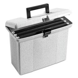 Pendaflex Portable File Boxes, Letter Files, 14.88 in x 6.5 in x 11.88 in, Granite