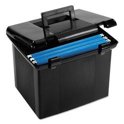 Pendaflex Portable File Boxes, Letter Files, 13.88 in x 14 in x 11.13 in, Black