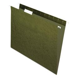 Pendaflex Standard Green Hanging Folders, Letter Size, 1/5-Cut Tab, Standard Green, 25/Box