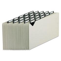 Pendaflex Steel Top Tab A-Z File Guides, 1/5-Cut Top Tab, A to Z, 8.5 x 14, Gray, 25/Set