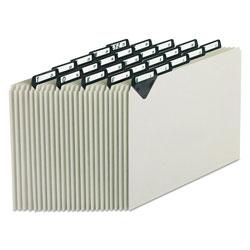 Pendaflex Steel Top Tab A-Z File Guides, 1/5-Cut Top Tab, A to Z, 8.5 x 11, Gray, 25/Set