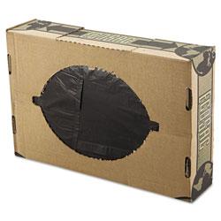 Flexsol Linear Low-Density Ecosac, 38 x 60, 55-gal, 1.54 Mil, Black, 100/Case