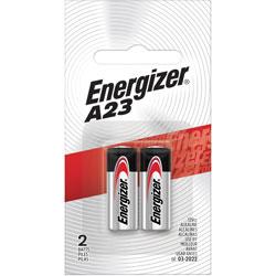 Energizer Watch/Electronic Battery, Alkaline, A23, 2/PK, Black/Silver