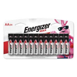 Energizer MAX Alkaline AA Batteries, 1.5V, 24/Pack