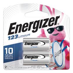 Energizer 123 Lithium Photo Battery, 3V, 2/Pack