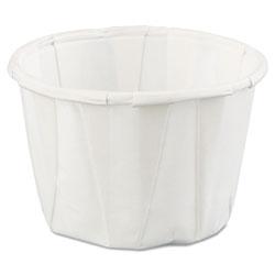 Genpak Squat Paper Portion Cup, 1oz, White, 250/Bag, 20 Bags/Carton